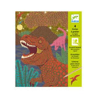 "Cartes à gratter dinosaures ""Djeco"""