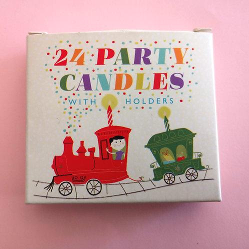 """24 bougies colorées """"Arc en ciel"""""""