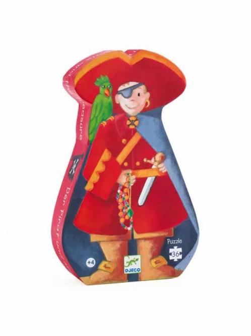 """Puzzle -Le pirate et son trésor - 36 pcs """"Djeco"""""""