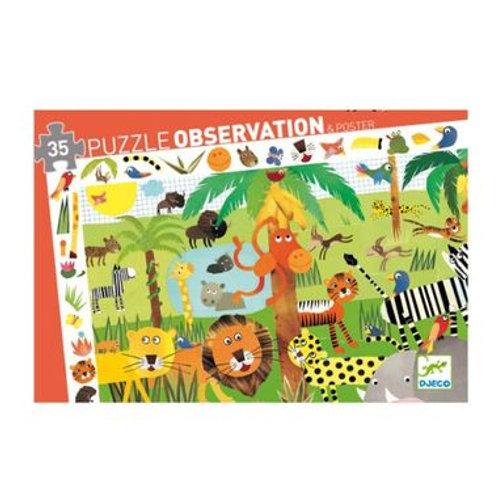 "Puzzle observation jungle 35 pcs ""Djeco"""