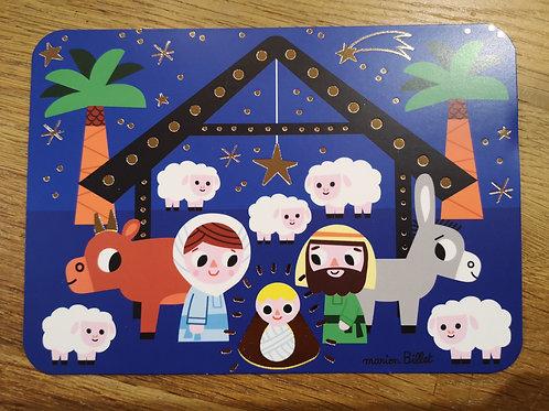 Carte postale: Joyeux Noel  - Creche - Carte d'art