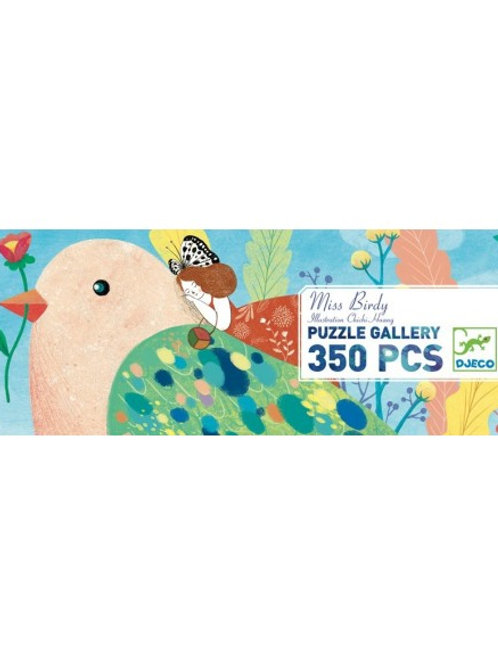 "Puzzle gallery - Miss Birdy 350 pcs ""Djeco"""