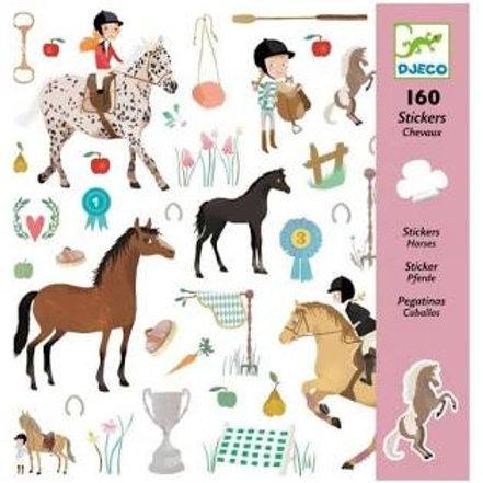 """160 Stickers Chevaux """"Djeco"""""""
