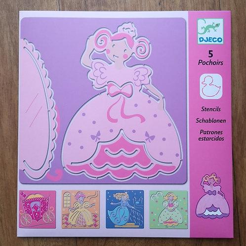 """Pochoirs Princesses """"Djeco"""""""