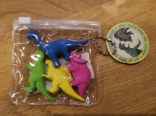 4 gommes dinosaures
