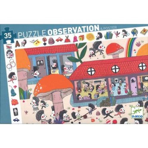 """Puzzle observation Hérisson 35 pcs """"Djeco"""""""