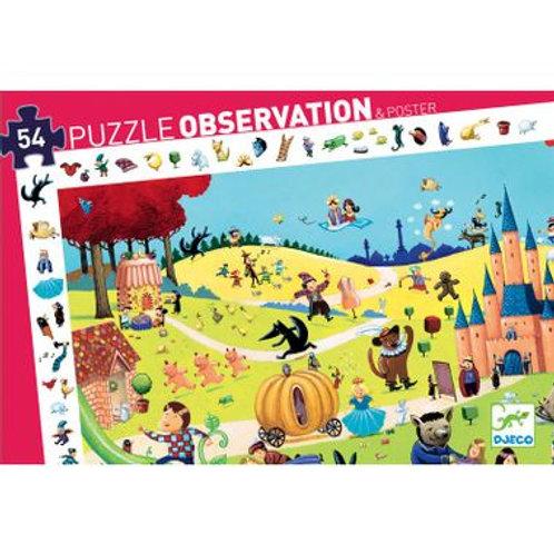 """Puzzle d'observation Contes 54 pcs """"Djeco"""""""