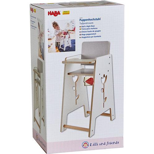 """Chaise haute en bois pour poupée """"haba"""""""