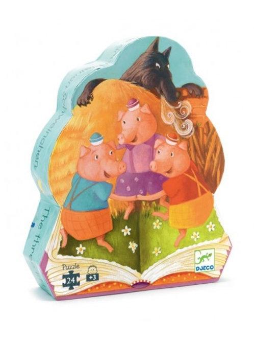 """Puzzle Trois petis cochons - 24 pcs """"Djeco"""""""