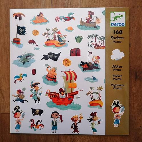 "160 Stickers Pirates ""Djeco"""