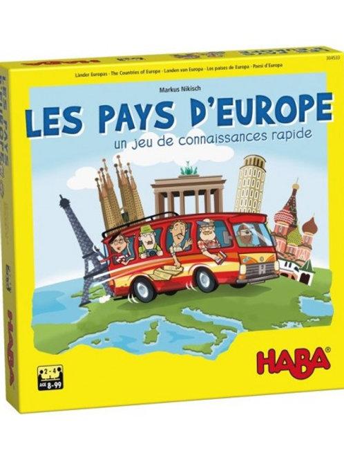 "Jeu les pays d'Europe  ""Haba"""