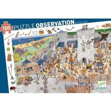 "Puzzle observation Chateau fort 100 pcs ""Djeco"""