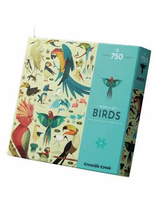 "Puzzle world of birds  - 750 pcs   ""Bertoys"""