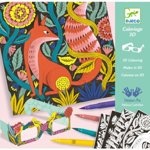 """Coloriage 3D Foret """"Djeco"""""""