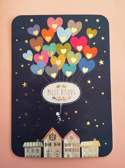 Carte postale: Mille bisous
