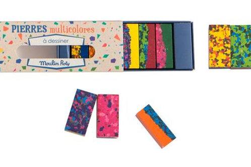 """6 pierres multicolores """"Moulin Roty"""""""