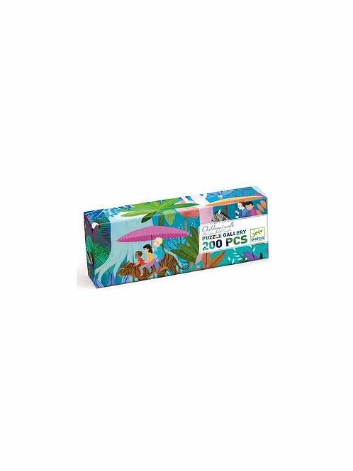 "Puzzle gallery - Children's walk 200 pcs ""Djeco"""