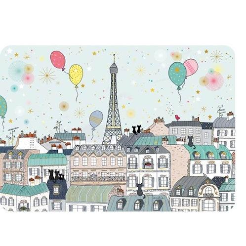 """Set de table - Toits de Paris """"Carte d'art"""""""