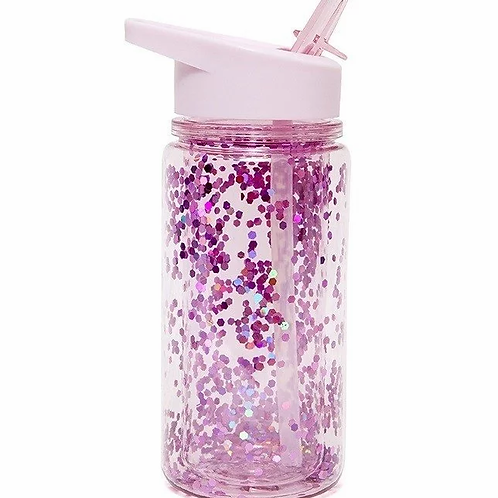 """Gourde Glitter paillettes violette """"Petit Monkey"""""""