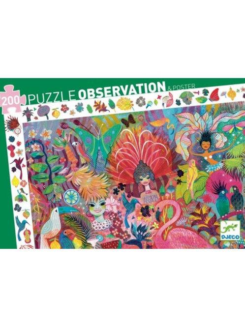 "Puzzle observation Carnaval de Rio 200 pcs ""Djeco"""