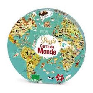 """Puzzle Carte du monde 500 pcs """"Vilac"""""""