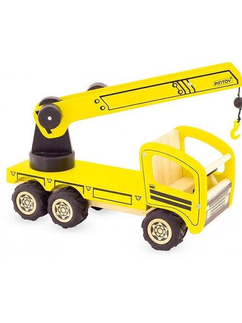 """Camion Grue en bois """"Pintoy"""""""