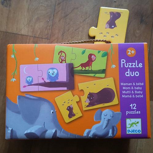 """Puzzle duo """"Maman & Bébé"""" Djeco"""