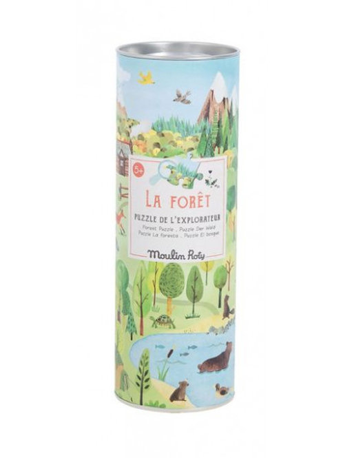 "Puzzle explorateur la forêt - 96 pcs ""Moulin Roty"""