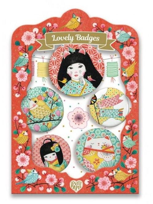"Coffret Lovely Badges Japon""Djeco"""