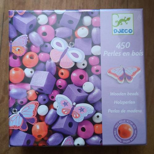 "Perles en bois (Violet) ""Djeco"""