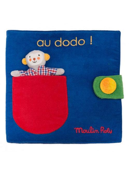 "Livre tissu au dodo - Les Popipop "" Moulin Roty"""