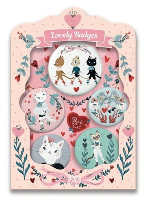 """Coffret Lovely Badges chats """"Djeco"""""""