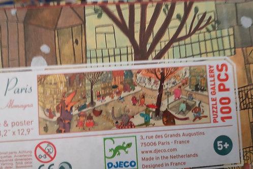"Puzzle gallery Paris 100pcs ""Djeco"""
