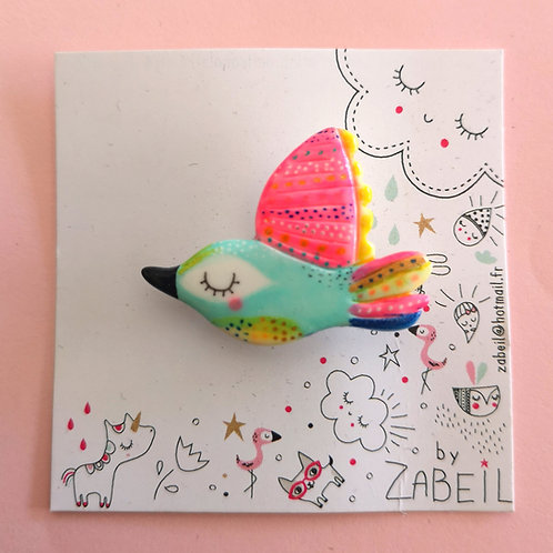 "Broche ""Zabeil"" Oiseau"