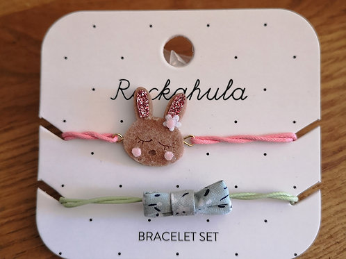 "Lot de 2 Bracelets Lapin ""Rockahula"""