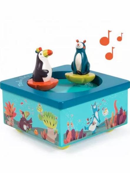 """Boîte à musique - Dans la jungle """"Moulin Roty"""""""