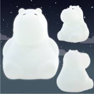 "Veilleuse silicone souple - Hipopotame - ""Ulysse"