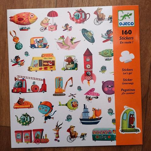 "160 Stickers (orange) ""Djeco"""