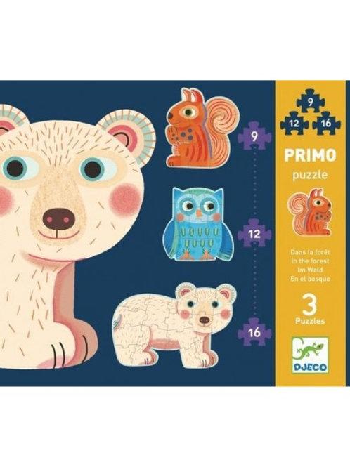 """Primo Puzzle - La forêt - 9/12/16 pcs """"Djeco"""""""