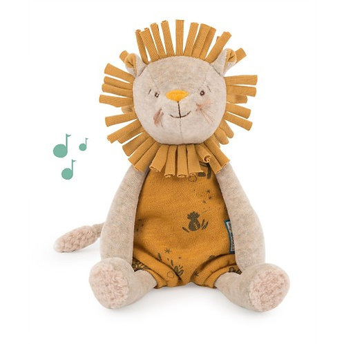 "Peluche musicale Lion - Sous mon Baobab ""Moulin Roty"""