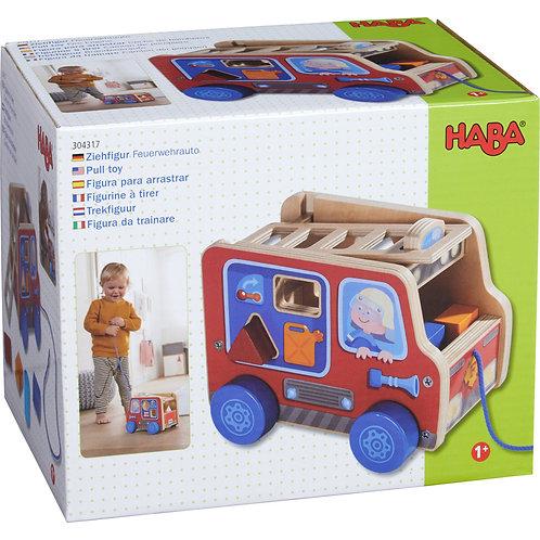 """Camion de pompier à tirer """"Haba"""""""