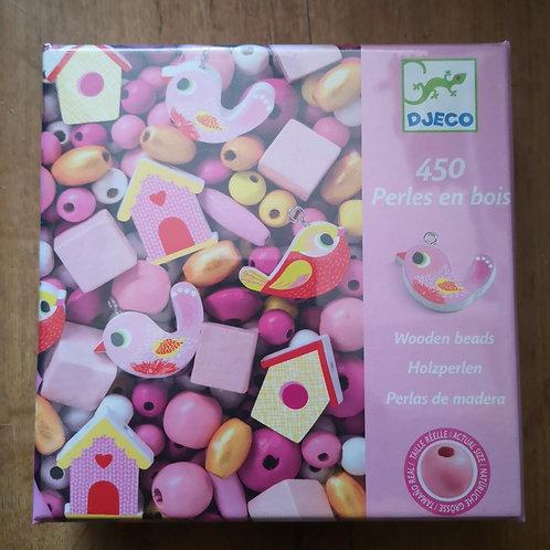 "Perles en bois (rose) ""Djeco"""