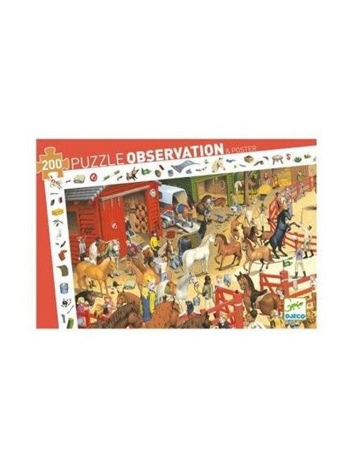 "Puzzle observation Equitation 200 pcs ""Djeco"""