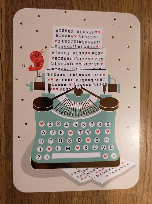 Carte postale: Bisous  - Carte d'art