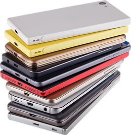 pile of mobile devices