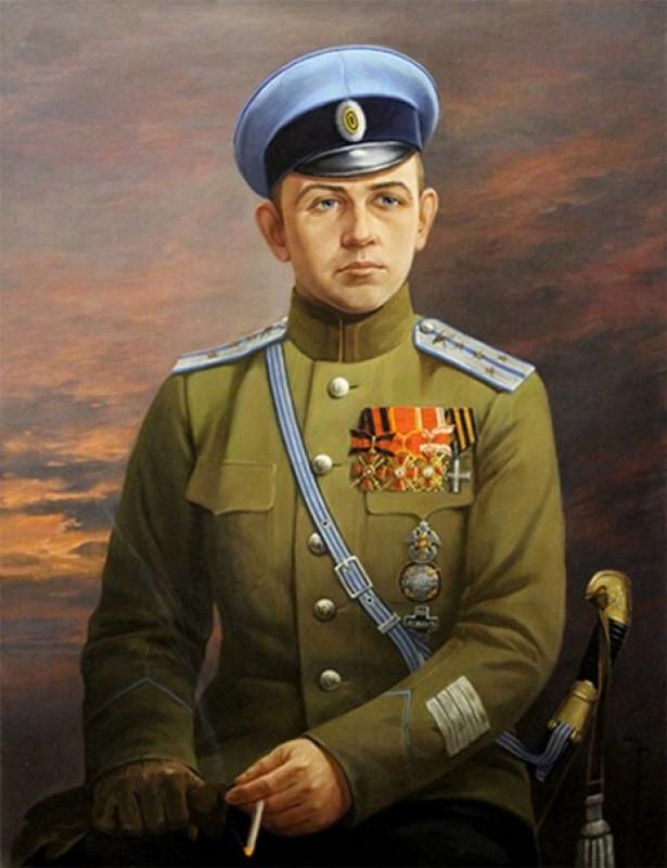 Туроверов в форме Атаманского полка
