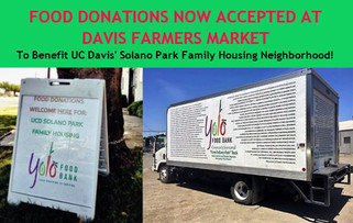 Donate food at the Davis Farmers Market