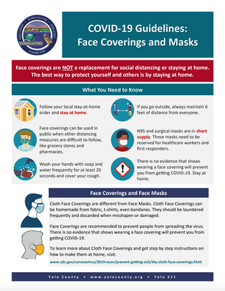 Face Coverings, Close Quarters Guidance, Dashboard, & Timeline