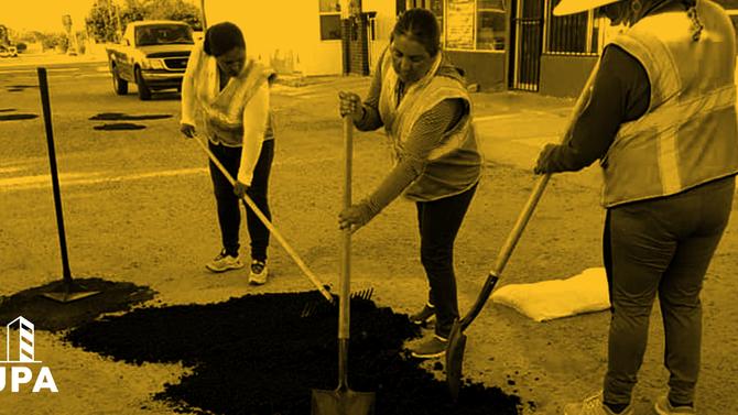 Asfalto en Frío de UPA en Puerto Peñasco