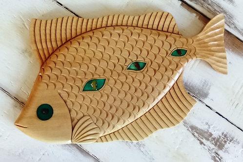 Рыбка D16 из липы